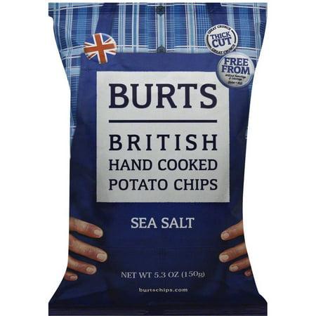 Burts British Hand Cooked Potato Chips Sea Salt, 5.3 oz ...