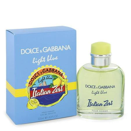 Light Blue Italian Zest by Dolce & Gabbana - Men - Eau De Toilette Spray 4.2 (Is Dolce And Gabbana Italian)