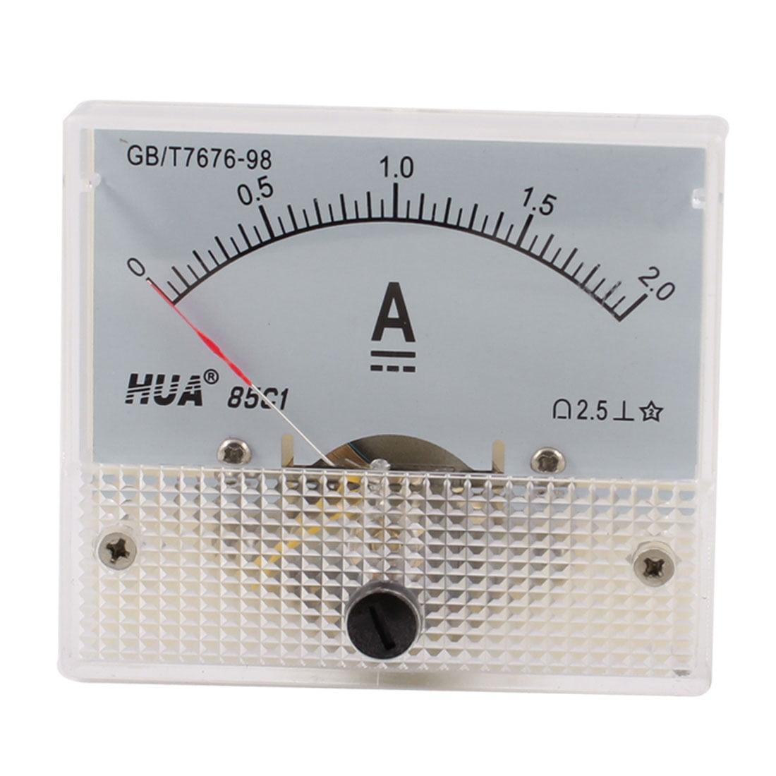 Unique Bargains Unique Bargains 85C1 DC 0-2A Rectangle Analog Amperemeter Panel Meter... by Unique-Bargains