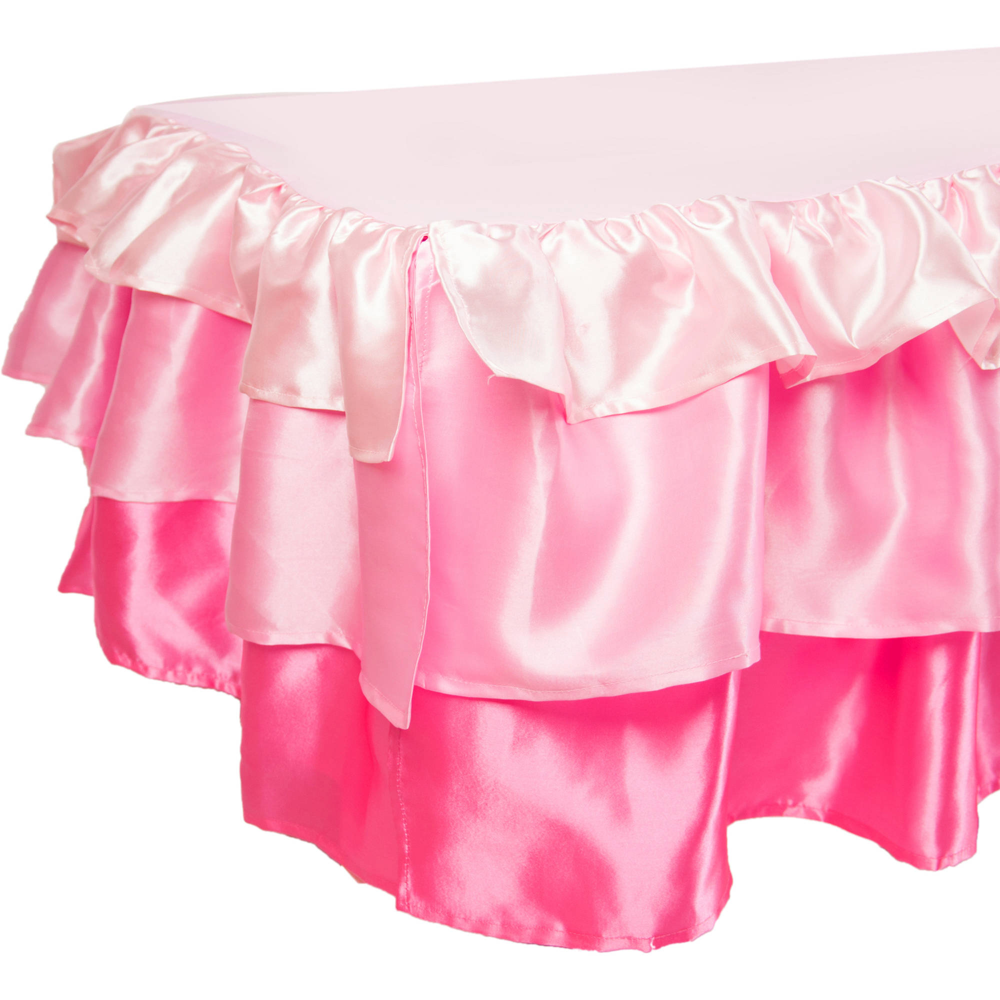 Tadpoles Pink Ruffled Satin Bed Skirt, Twin