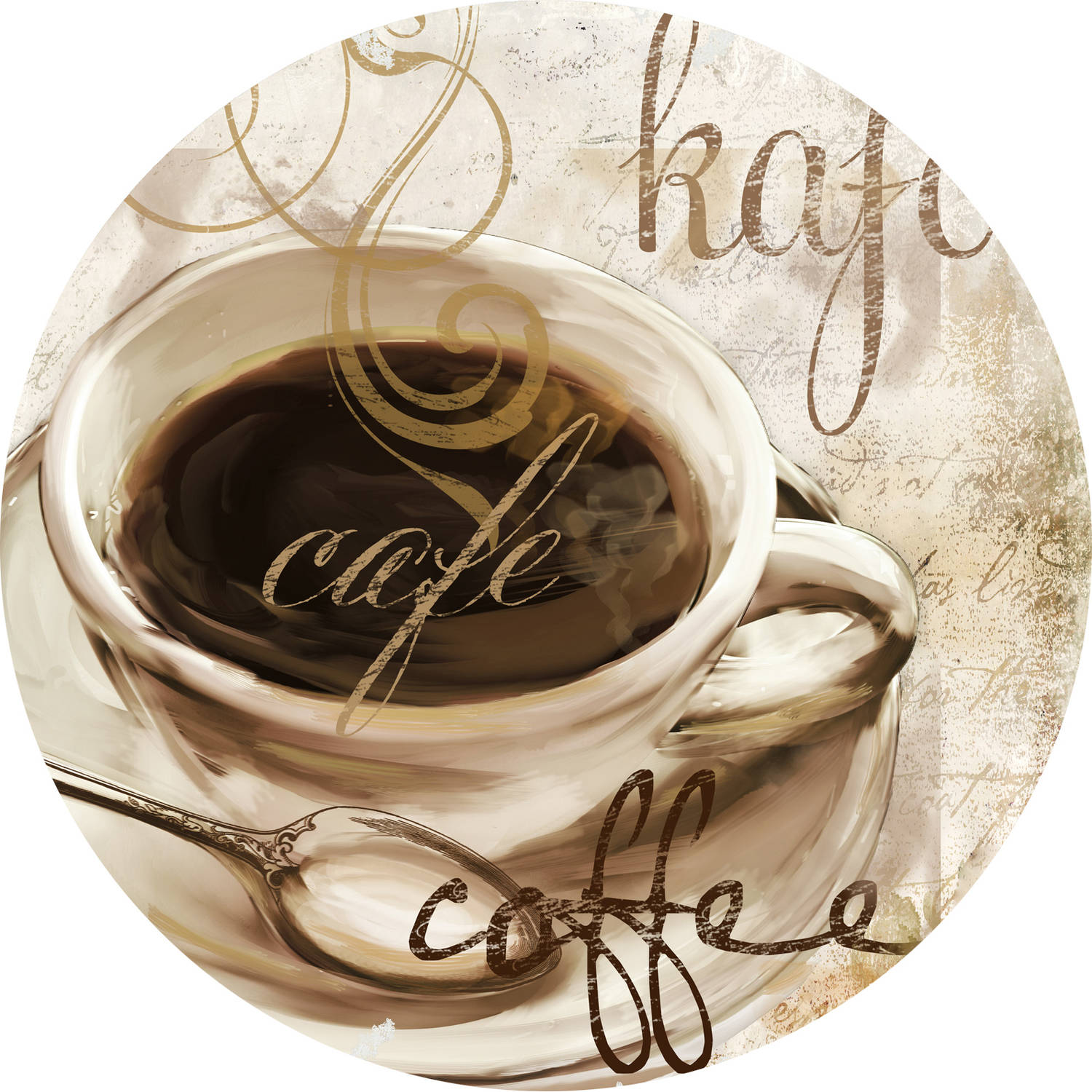 Studio Cup O Coffee Round Off-Set Placemat , Set of 4