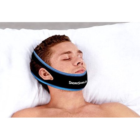 SnoreShield Adjustable Anti Snoring Chin Strap Snore Stopper Sleep Aid  Instant Stop Snoring Solution - Natural Snore Relief
