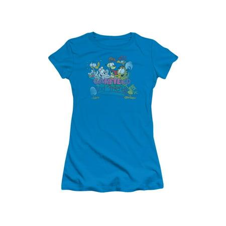 Garfield Comic Garfield And Friends Juniors Sheer T-Shirt Tee - Garfield And Friends Halloween Special