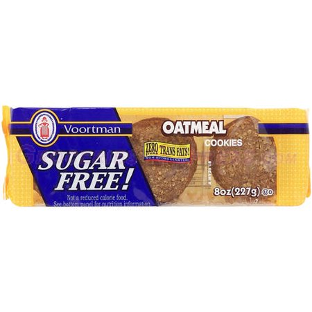 - (2 Pack) Voortman Sugar Free Oatmeal Cookies, 8 oz
