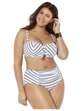 Swimsuits For All Women's Plus Size Scout Underwire High Waist Bikini