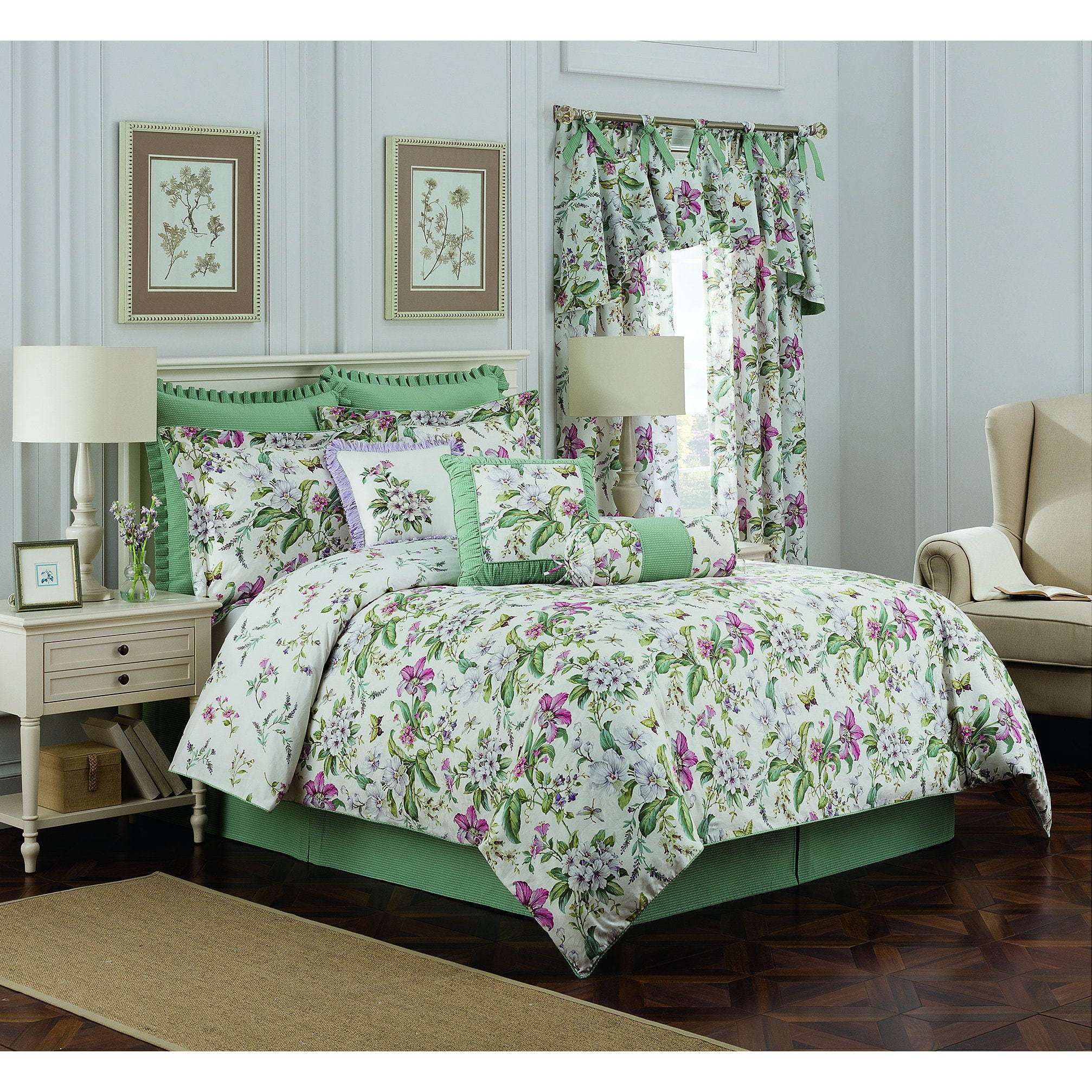 Royal Heritage Williamsburg Palace Green 4-Piece Full Comforter Set King