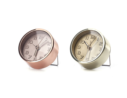 Kikkerland Mini Gold And Copper Alarm Clock   1 Assorted Color