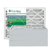 FilterBuy 16x24x4 MERV 13 Pleated AC Furnace Air Filter, (Pack of 4 Filters), 16x24x4 – Platinum