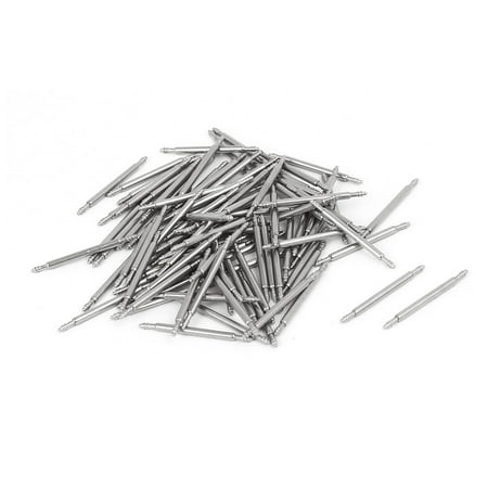 Stainless Steel Double Flanged End Spring Bar Pin 100pcs for 18mm Watch Band