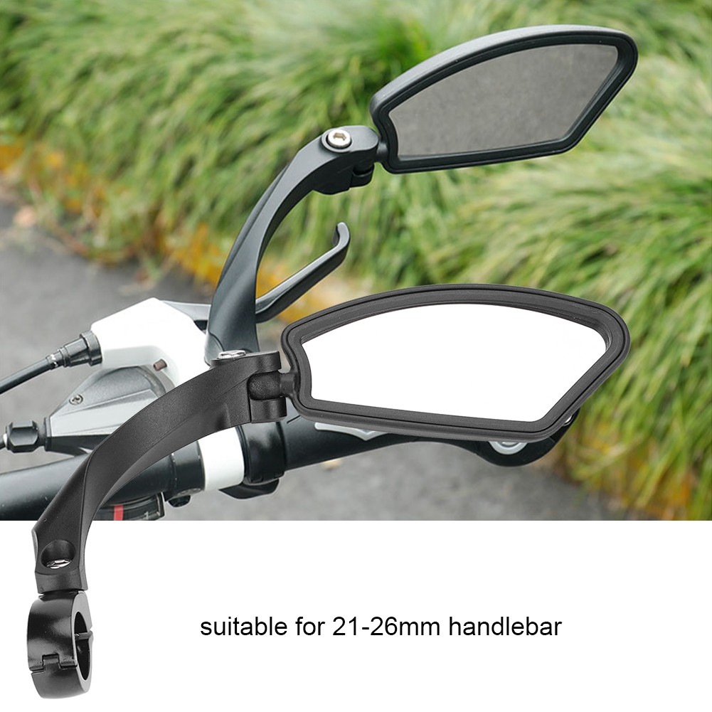 Rotate Bicycle Cycling Bike Back Rear View Handlebar Safety Rearview Mirror
