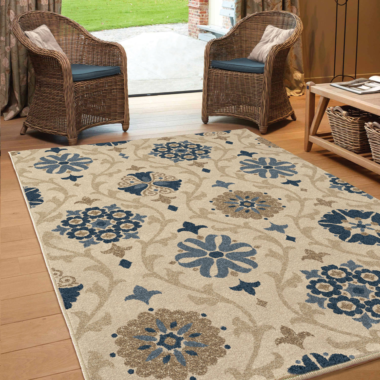 Orian Rugs Indoor Outdoor Scroll Floral Indio Area Rug by Orian Rugs