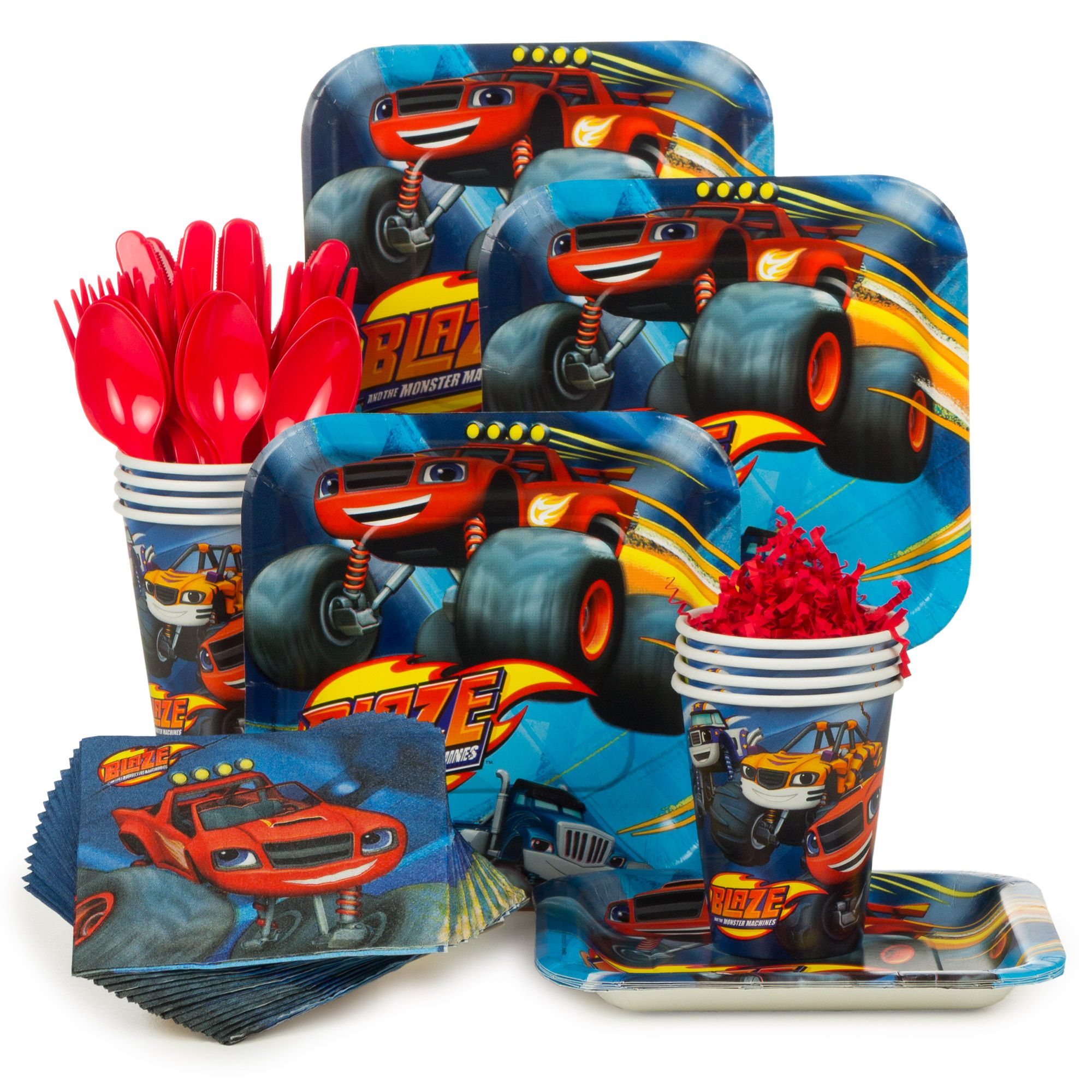 Blaze and the Monster Machines Standard Tableware Kit Serves 8 ...