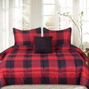 Buffalo Plaid Reversible Down Alternative 4 Piece Comforter Set