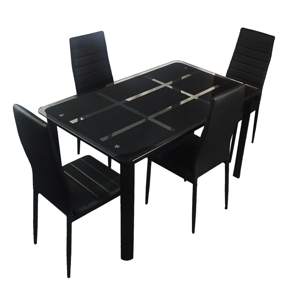 Clearance! 5 Piece Black Kitchen Table Set, Dining Table