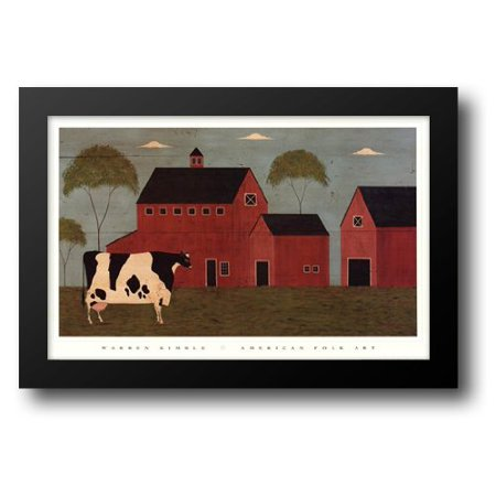 Warren Kimble Picture - FrameToWall - Nellie's Barn 32x22 Framed Art Print by Kimble, Warren