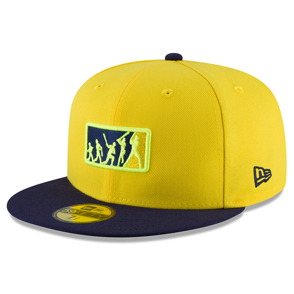 Milwaukee Brewers New Era 2018 Players' Weekend Team Umpire 59FIFTY Fitted Hat - Yellow/Blue