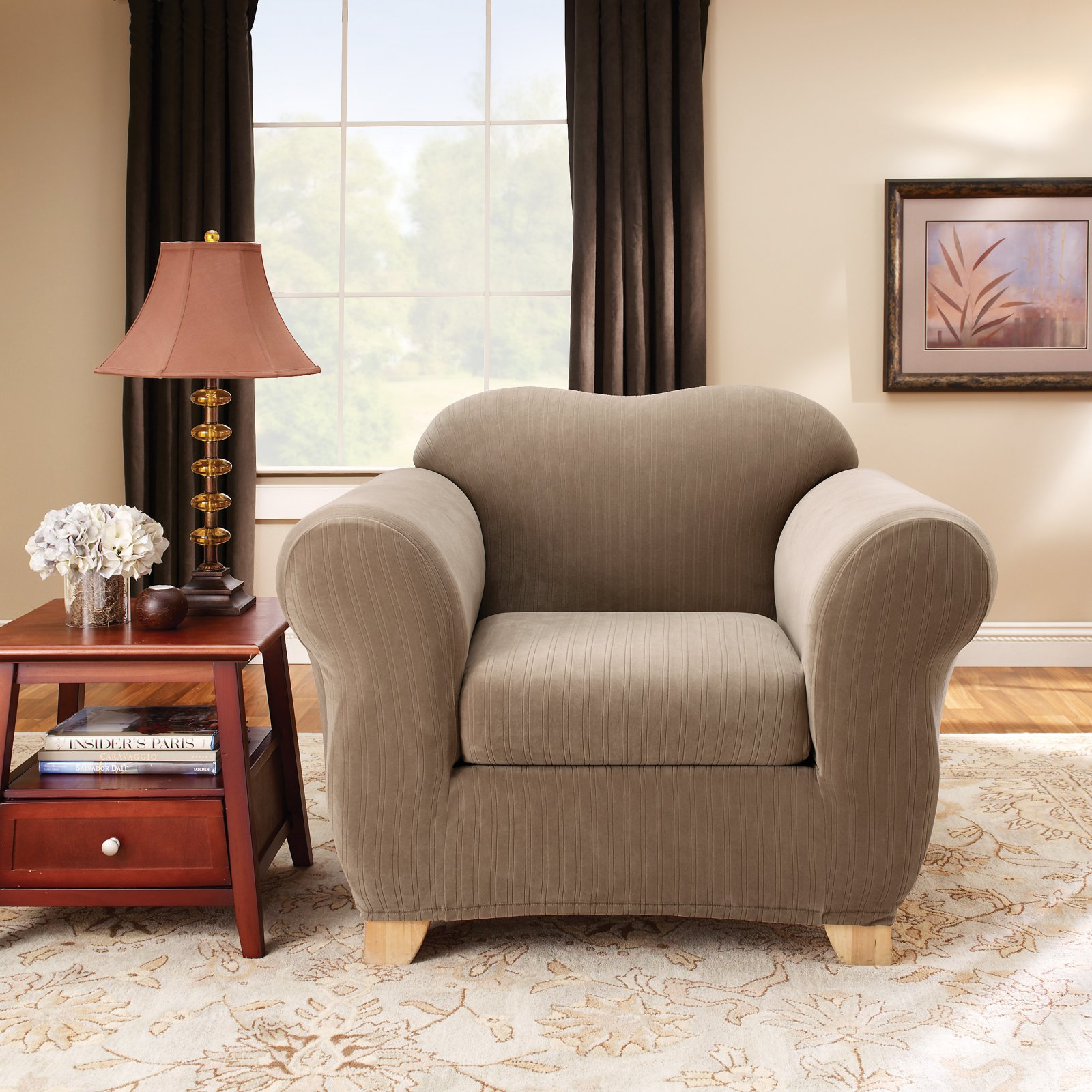 Sure Fit Stretch Pinstripe Chair Slipcover