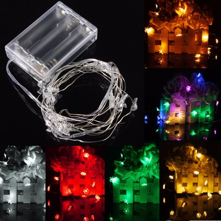 4.5V Waterproof IP67 2M 20 LED String Fairy Lights Battery Snow Man For Chirstmas Xmas Lamps Party Wedding Curtain Lighting Battery Charge ()