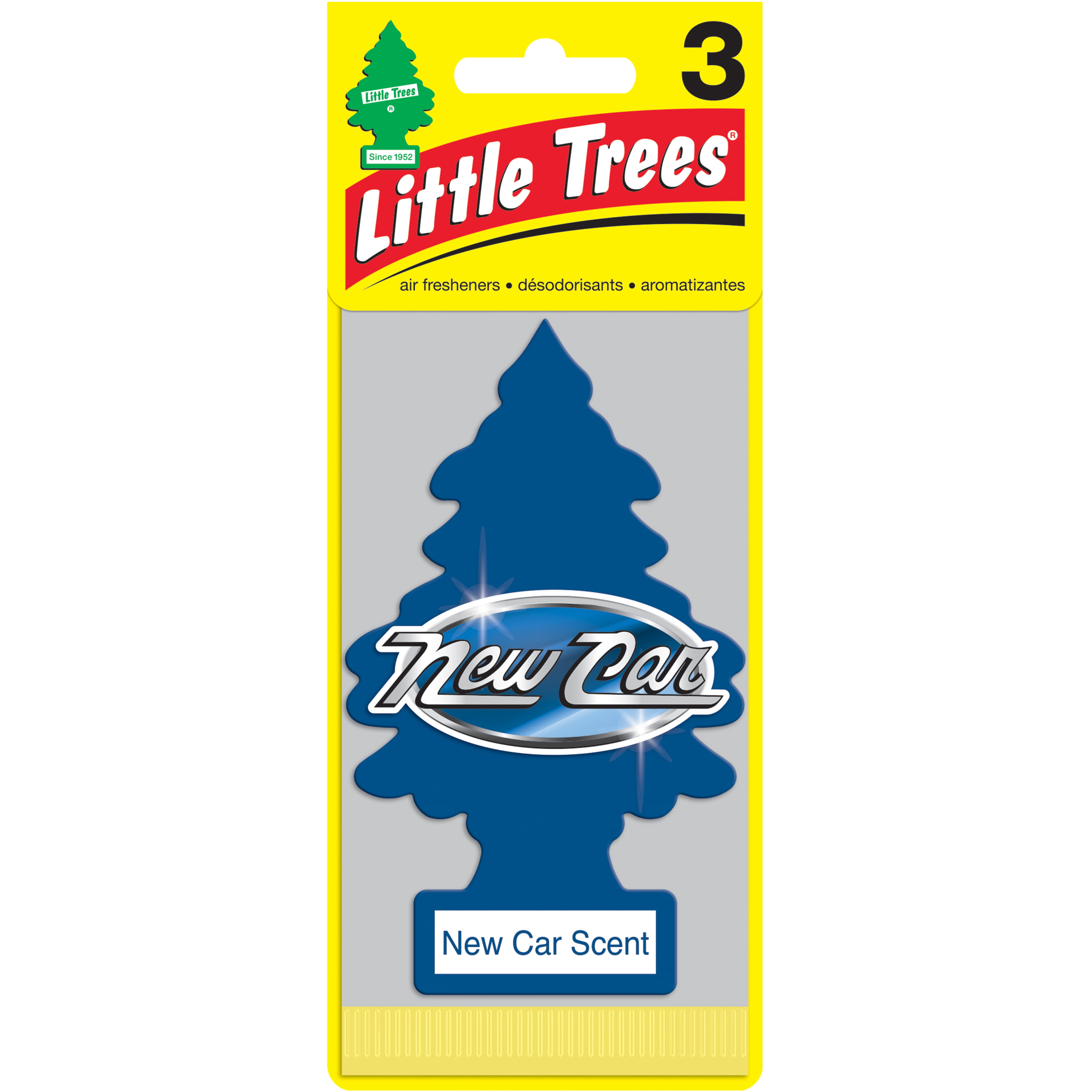 LITTLE TREES Air Fresheners New Car Scent 3-Pack