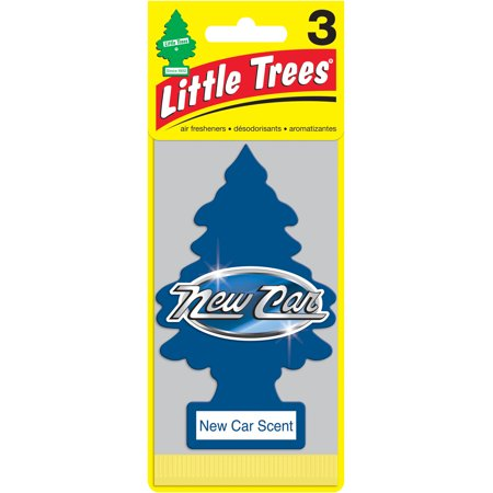 Little Trees Air Fresheners New Car Scent 3 Pack Walmart Com