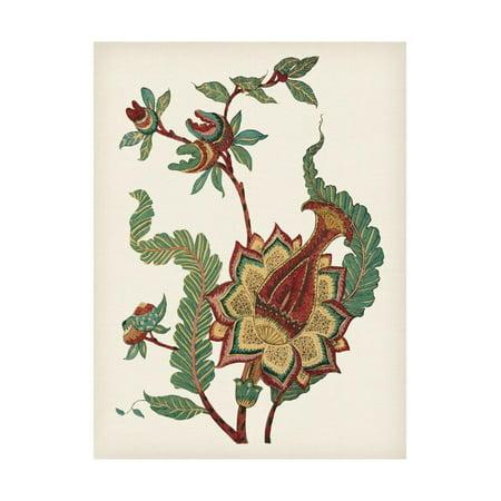 Jacobean Floral Print - Small Jacobean Floral I Print Wall Art By Vision Studio