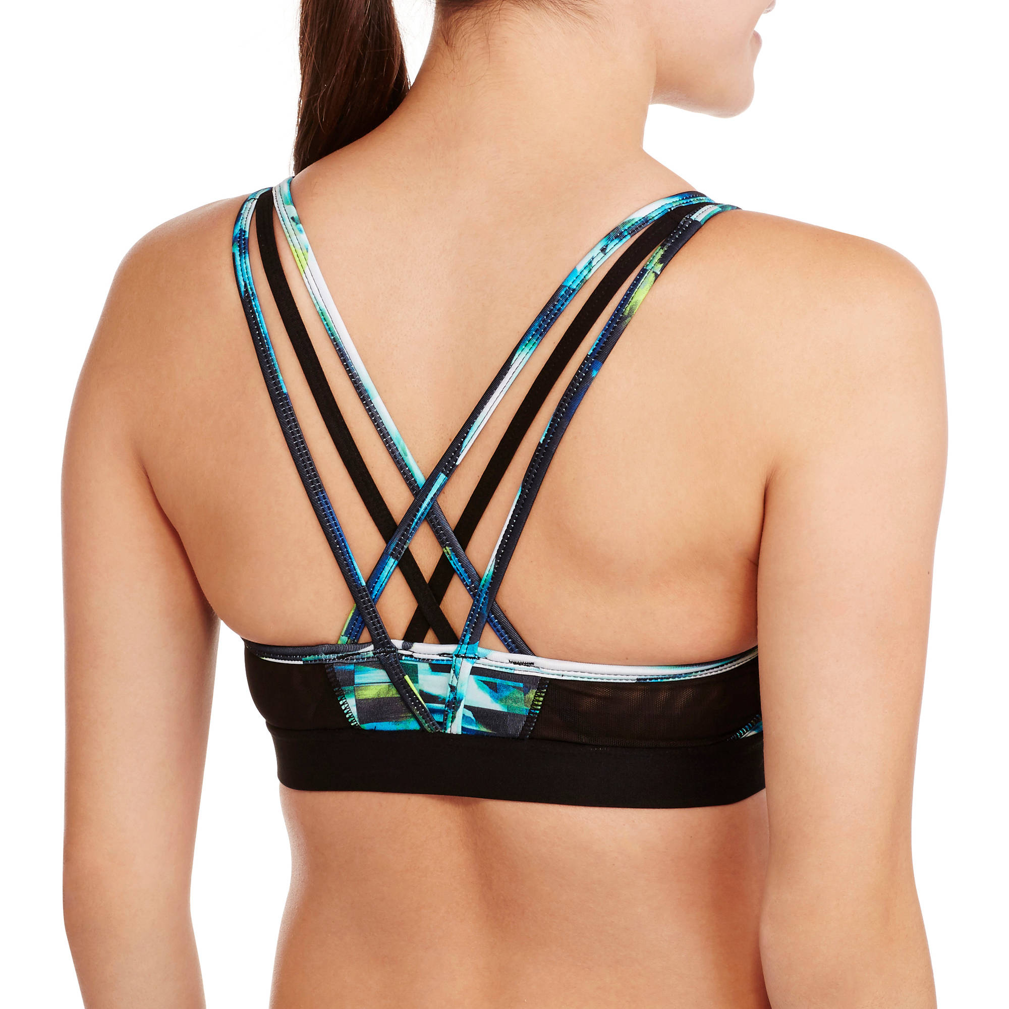 ad4f23eccf Avia - Women s Active Printed Sports Bra with Strappy Back - Walmart.com