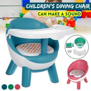 2 In 1 Dinning Chair and Play Chair Make a Sound Baby Kids Seat with Tray For Eating, PVC Cushion, Non-slip Foot Pads Safety
