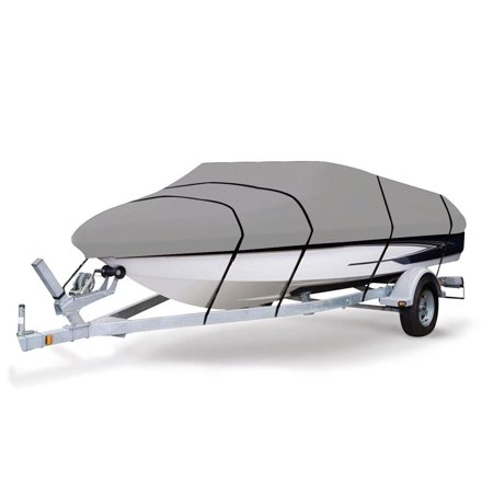 Gymax Heavy Duty 600D Marine Grade Polyester Canvas Trailerable Waterproof Boat (Best Waterproof Boat Cover)
