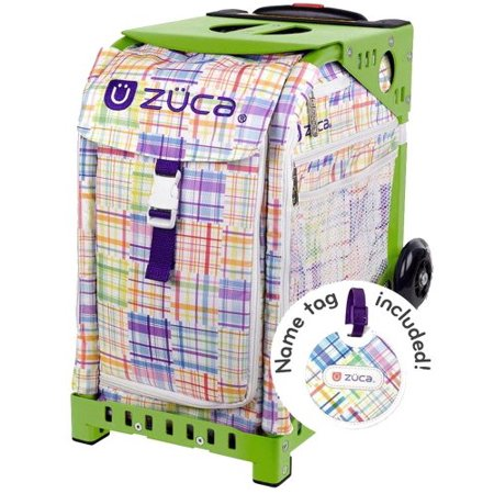 ZÜCA Patchwork Insert Bag + Sport Frame w/ LED Flashing Wheels (Ray Ban Green Frames)