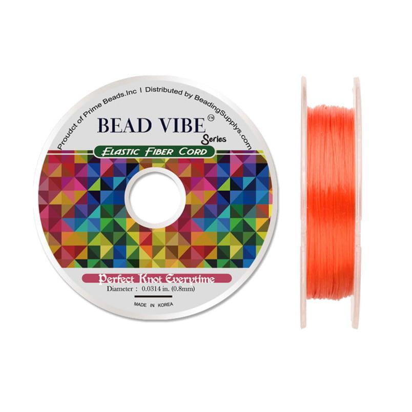 Elastic Fiber Cord, Beadvibe Series Elastic Fiber Cord, Clear 0.8mm Diameter 32Ft/pack (3-pack Value Bundle), SAVE $2