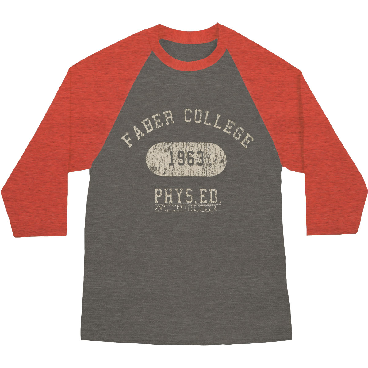 Animal House Men's  Faber Phys ED Baseball Jersey Rusty Red/Arctic