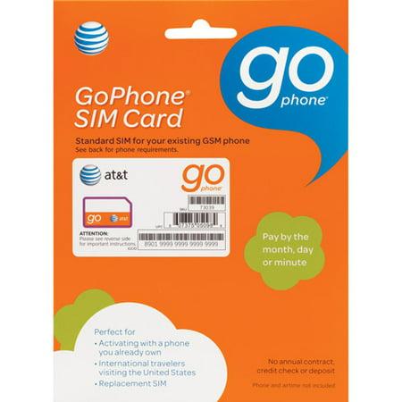 Walmart Stock Phone Number >> At&t Gophone Sim Card - Walmart.com