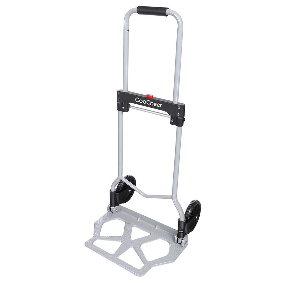 CooCheer Portable Steel Folding Hand Truck Dolly Luggage Carts ,220 lb Capacity by