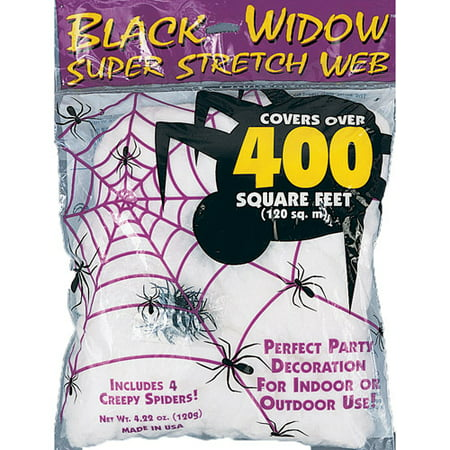 White Spider Web Halloween Decoration (Motion Sensor Halloween Decorations Uk)
