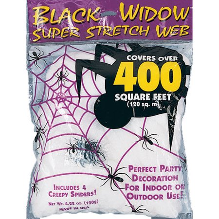 White Spider Web Halloween Decoration](Real Looking Halloween Decorations)