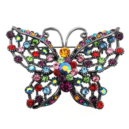 62565820f7 Fantasyard - Multicolor Butterfly PIn Swarovski Crystal Pin Brooch and  Pendant - Walmart.com