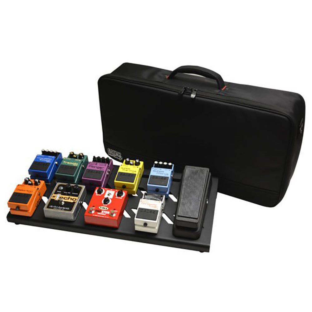 Gator GPB-BAK-1 Large Aluminum Pedal Board, Black w/ Carry Bag