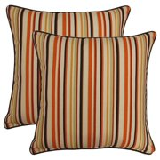 FHT Dockside Cinnamon 17-in Throw Pillows (Set of 2)