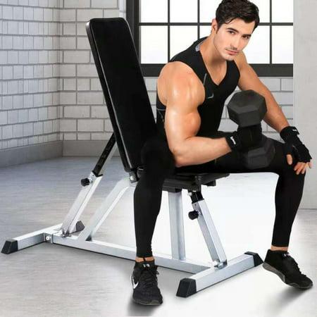 Zimtown Adjustable Fitness Weight Bench Sit Up Incline Decline