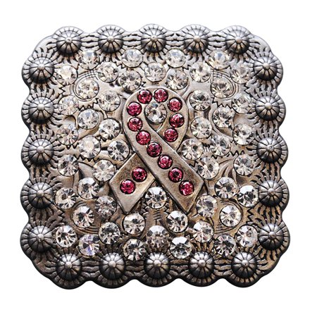 1 PIECE CRYSTALS BREAST CANCER CONCHOS RHINESTONE HEADSTALL TACK BLING COWGIRL