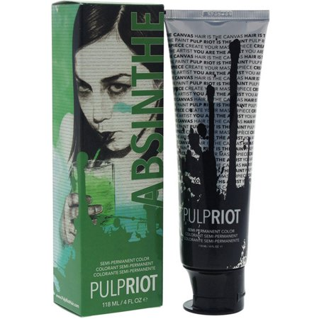 Pulp Riot Semi-Permanent Hair Color for Unisex, Absinthe Green 4 oz](Neon Green Hair)