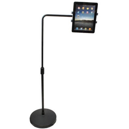 Astounding Universal Tablet Holder Floor Stand On Weighted Round Base Telescoping Post With L Extension Arm Interior Design Ideas Oteneahmetsinanyavuzinfo