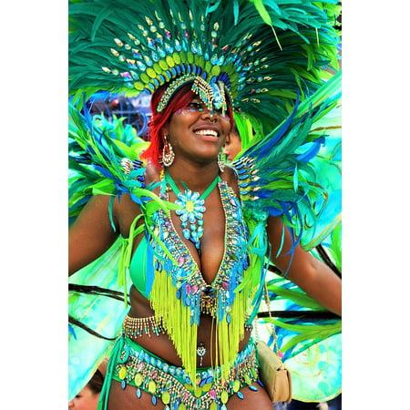 LAMINATED POSTER Carnival Notting Hill Costume Headgear Festival Poster Print 24 x 36