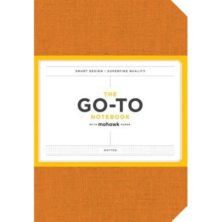 Go-To Notebook with Mohawk Paper, Persimmon Orange Dotted (Orange Notebook)