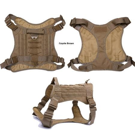 Dog Training Vest - Tactical Scorpion Dog Training Vest K9 MOLLE Military Combat Edition Harness D4