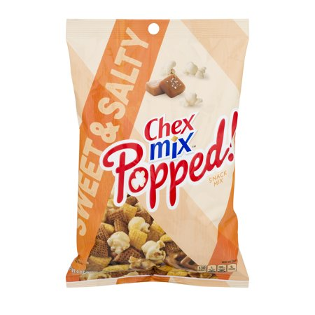 (2 Pack) Chex Mix Popped! Sweet and Salty Snack Mix, 9 oz Bag - Halloween Chex Mix Salty