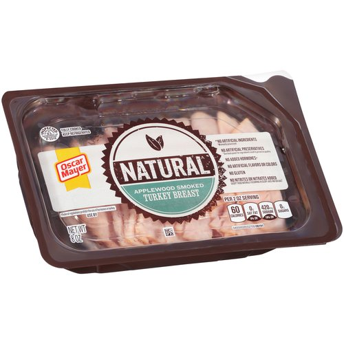 Oscar Mayer Natural Applewood Smoked Turkey Breast Cold Cuts, 8 oz