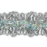 Expo Int'l 20 yards of Sheba Diamond Sequin Braid Trim by the (Diamond Braid)