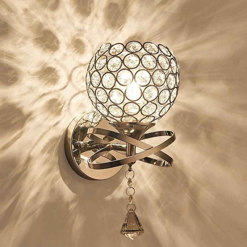 """CRYSTAL WALL SCONCE LIGHTING SILVER BEDROOM DINING LIVING ROOM FOYER 4 LIGHT 18/"""""""