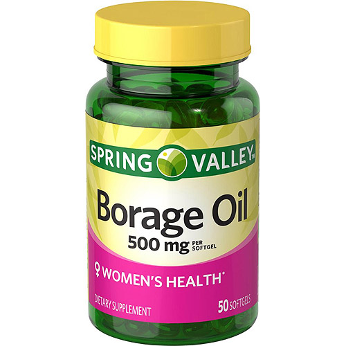 Spring Valley Natural Borage Oil Softgels, 500 mg, 50 count